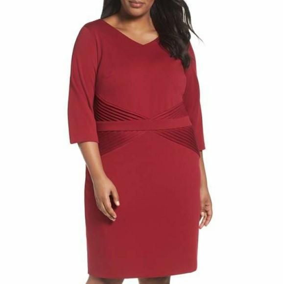 Ellen Tracy Dresses | Nwt Ponte Knit Dress Plus Size 24w | Poshmark